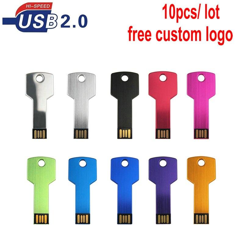 10 unids/lote de memoria usb flash pendrive personalizado memoria usb disco en la clave de la boda 16GB 8GB 64GB 32GB fotografía