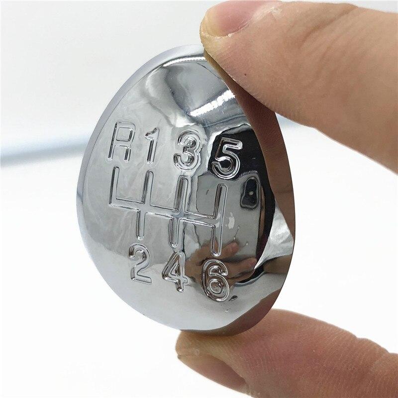 Chrome estilo do carro engrenagem vara botão de mudança tampa emblema emblema capa para mazda 3 5 6 xedos ca premacy 323 626 ge premacy cp mpv lw