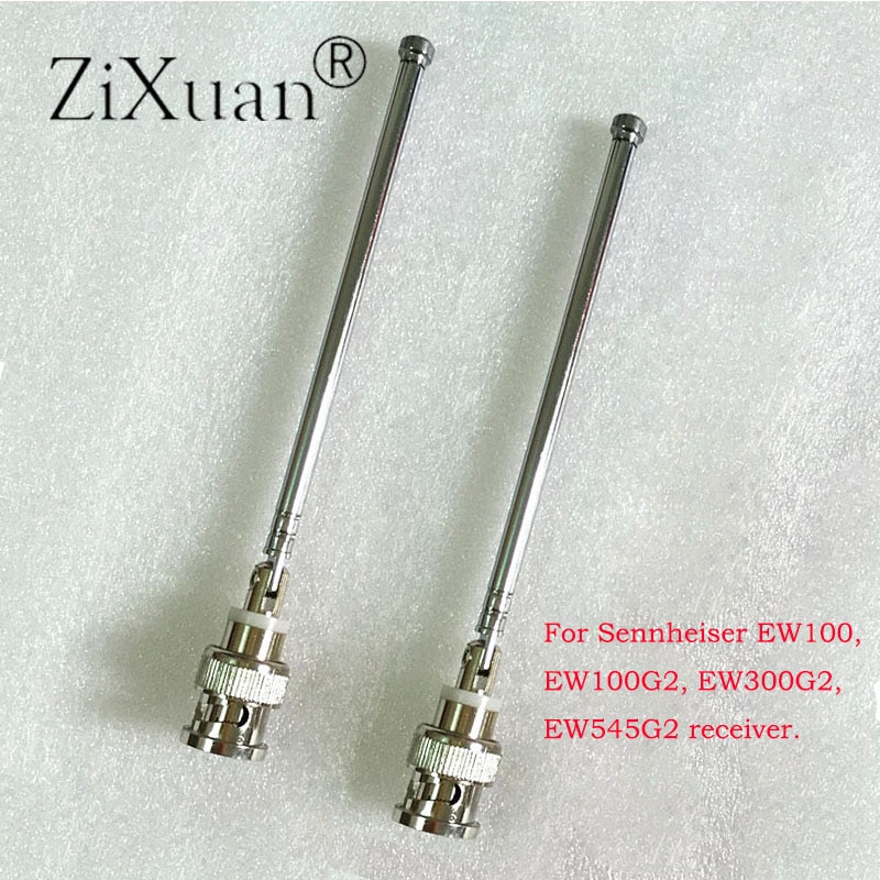 2PCS  Mic Antenna For Sennheiser EW100 EW300 EW500 G2 Receiver 400-900MHz BNC Receive Signal Wireless Microphone Mic Antenna