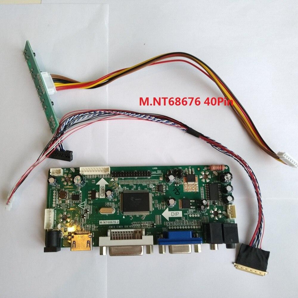 "Kit para B140XTN02.3 Panel de pantalla DVI HDMI 1366X768 Placa de controlador LCD VGA 14 ""AUO pantalla LED DIY M NT68676 40pin"
