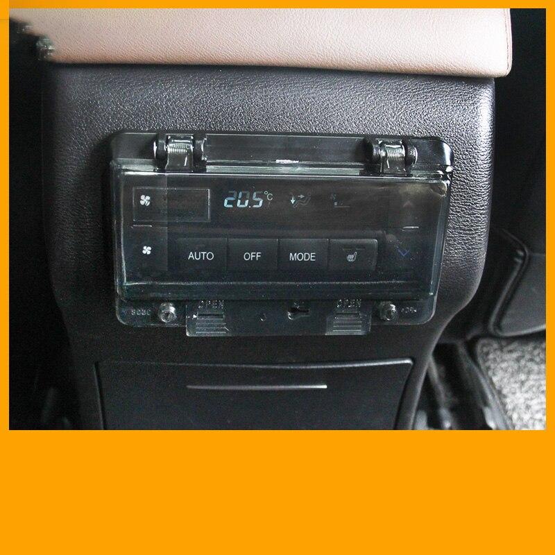 Cubierta del panel de aire acondicionado trasero anti-retroceso caja de protección del interruptor de descongelación cubierta anti-toque para Haval H9 2015-2019