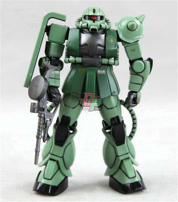 Bandai 1144 Schaal Model Uc Eeuw Rood Groen Zaku 2 MS-06F Gundam Robot Modelismo Assembly Model Kits