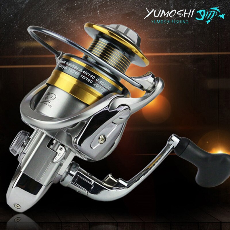 Carrete de pesca giratorio YUMOSHI de Metal, rueda Superior 13 + 1BB para pesca en agua dulce y salada, serie 1000-7000