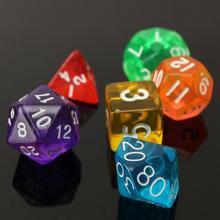 7 Pcs/lot clair face Die D4 D6 D8 D10 D12 D20 MTG magique le jeu de dés de rassemblement