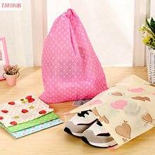 1 pièces sacs à poussière de cordon de poche de stockage de voyage de sac portatif coloré de chaussures