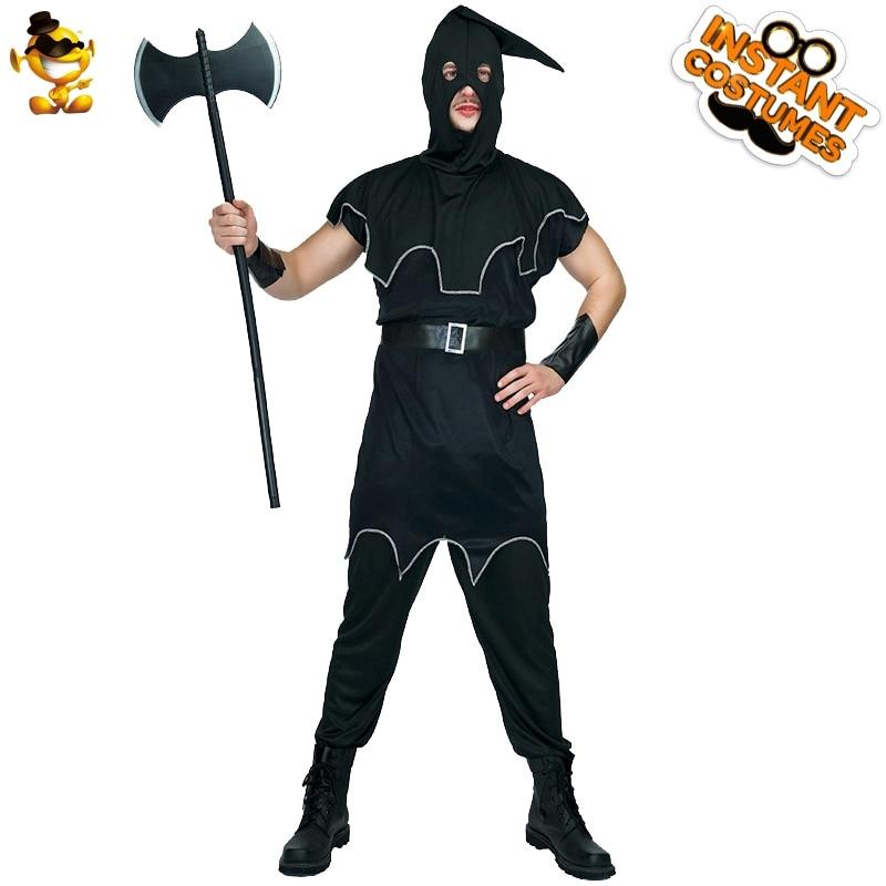 Disfraz de verdugo para hombre de Halloween, ropa de verdugo para hombres adultos, disfraces de fiesta