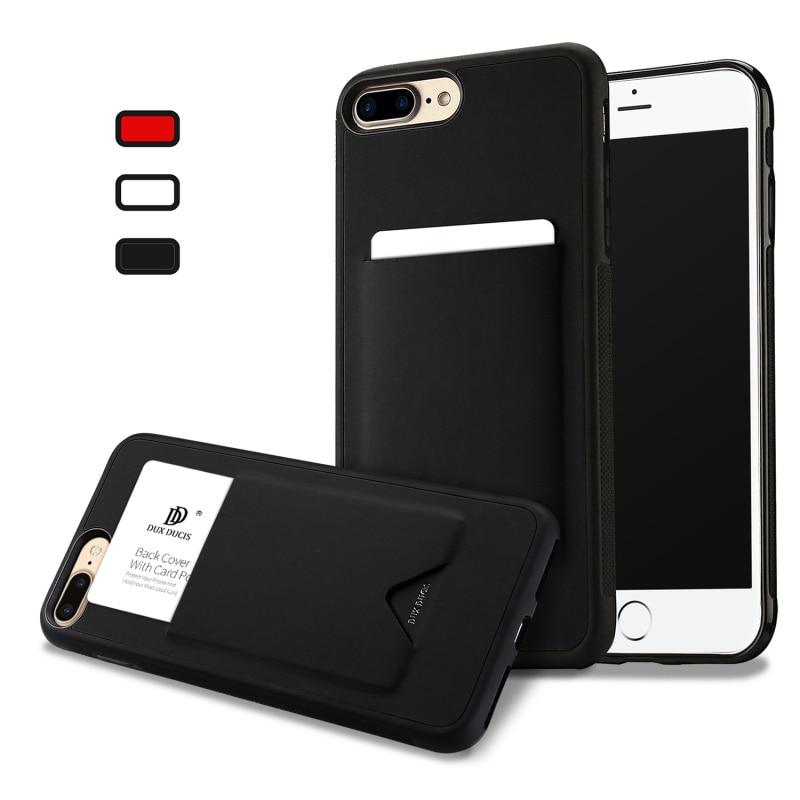 Tarjetero de moda para iPhone X, 8, 7, 6, 6s Plus, funda de lujo de cuero antideslizante de TPU, funda de silicona para iPhone 7 Plus