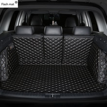 Flash mat leather Car Trunk Mats for KIA All Models K2/3/4/5 Kia Cerato Sportage Optima Maxima carnival rio ceed cargo liner