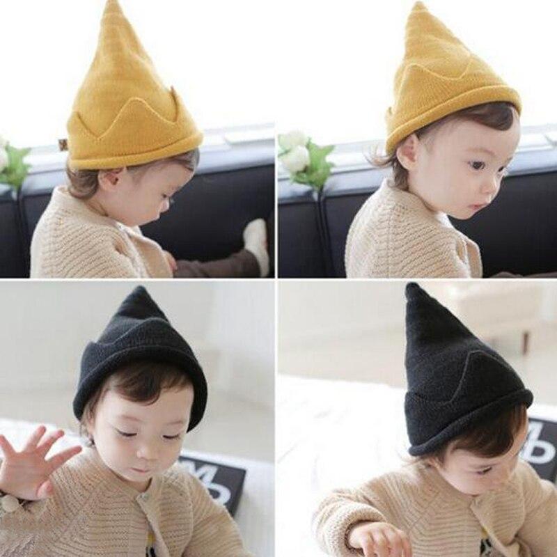 6 meses-5 años de edad Bebé y niños nuevo sombrero de bebé Otoño Invierno tejidos sombreros Unisex niños pequeños gorros calientes Steeple Hedging Cap XL54