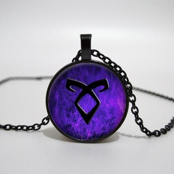 Collar de cristal de City of bones, colgante con runas, collares, joyería de instrumentos mortales angelicales