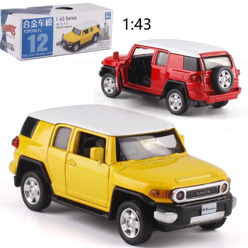 143 Caipo Pull-back-auto Toyota FJ Legierung Diecast Metall Modell Auto