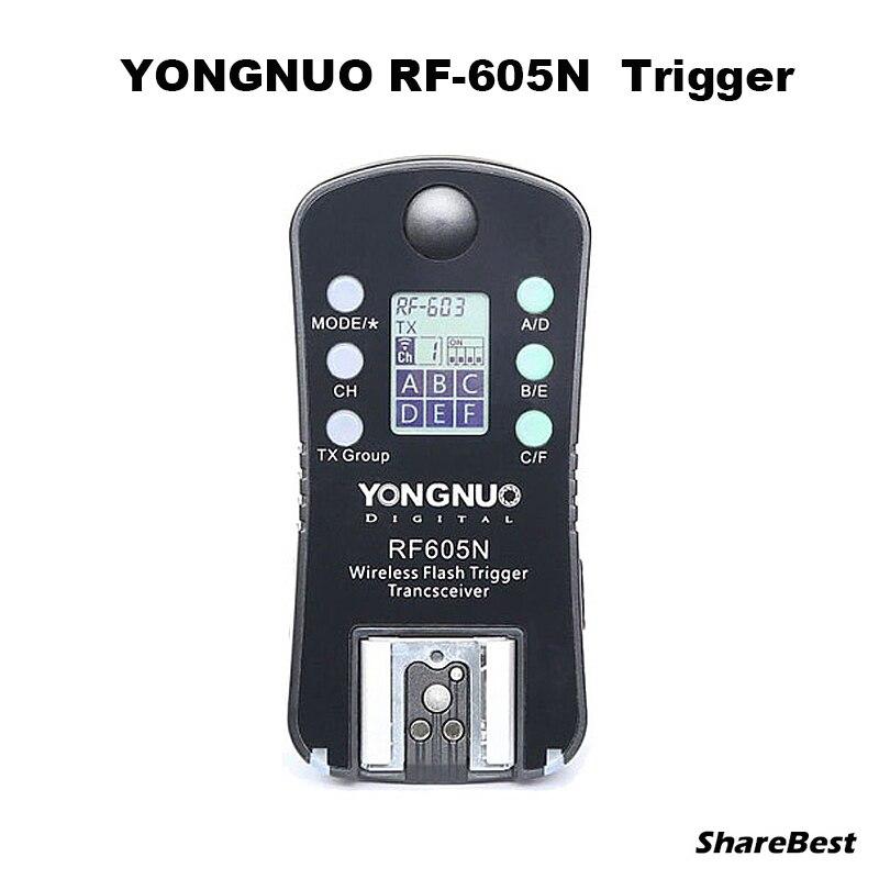 Yongnuo rf-605n rf605n rf 605 draadloze flash trigger voor nikon d7100 D7000 D5300 D5100 D5000 D3100 D90 D80 D70 D800 D700 D300