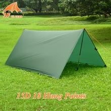 3F Ul Gear 15D Nylon Silicone Ultralight Tarp Awning Sun Shelter Lightweght Camping Equipment 3*3m 4*3m 5*3m