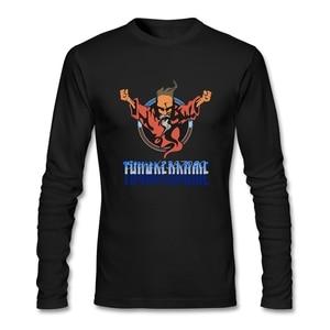 Techno and Gabber T Shirt Custom Long Sleeve Men's T-shirt 2019 Hot Camiseta Cotton Crewneck Tee Shirts Homme