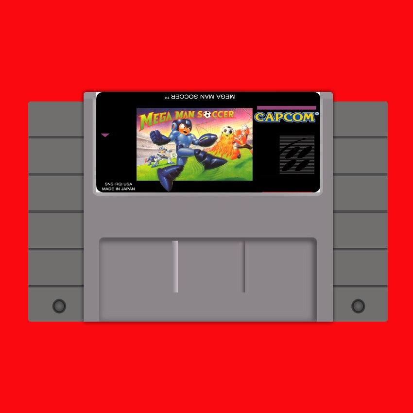 Mega Man-tarjeta de juego grande de fútbol, 16 bits, para jugador de...