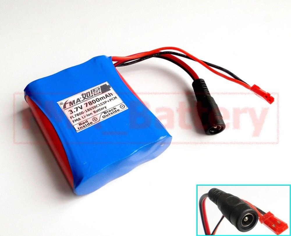 Japón 18650 1S3P 3,7 V 7800mAh Li-ion Paquete de batería + DC 4,2 V 1.5A cargador inteligente EU