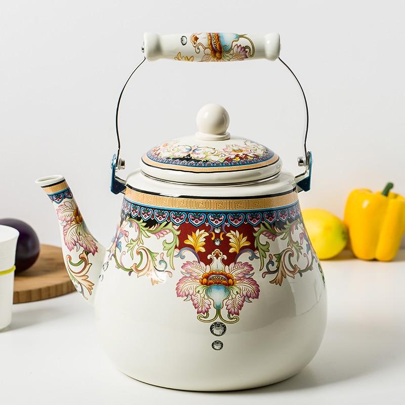 Oferta especial oferta especial 5L tetera esmaltada olla engrosada tetera jarra chino...