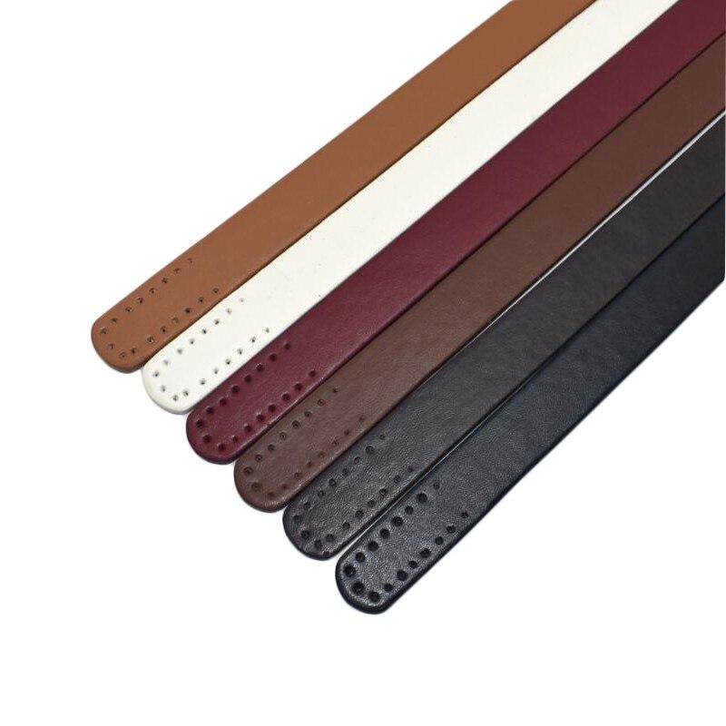 Asas de cuero de moda bolso cinturones DIY ASA Accesorios Bolsos hecho a mano pieza de sustitución correas para bolso de hombro 1 par