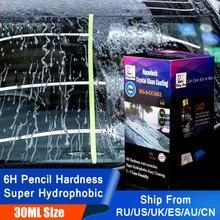 Жидкий спрей для автомобильного стекла, водоотталкивающий ультрагидрофобный керамический нанопокрытие, 30 мл