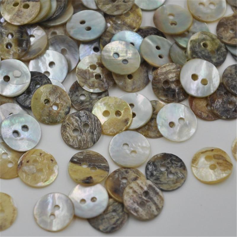 13 ミリメートルナチュラルシェル縫製ボタンパール Mop シェル 2 穴ボタン衣服縫製アクセサリー DIY PH104