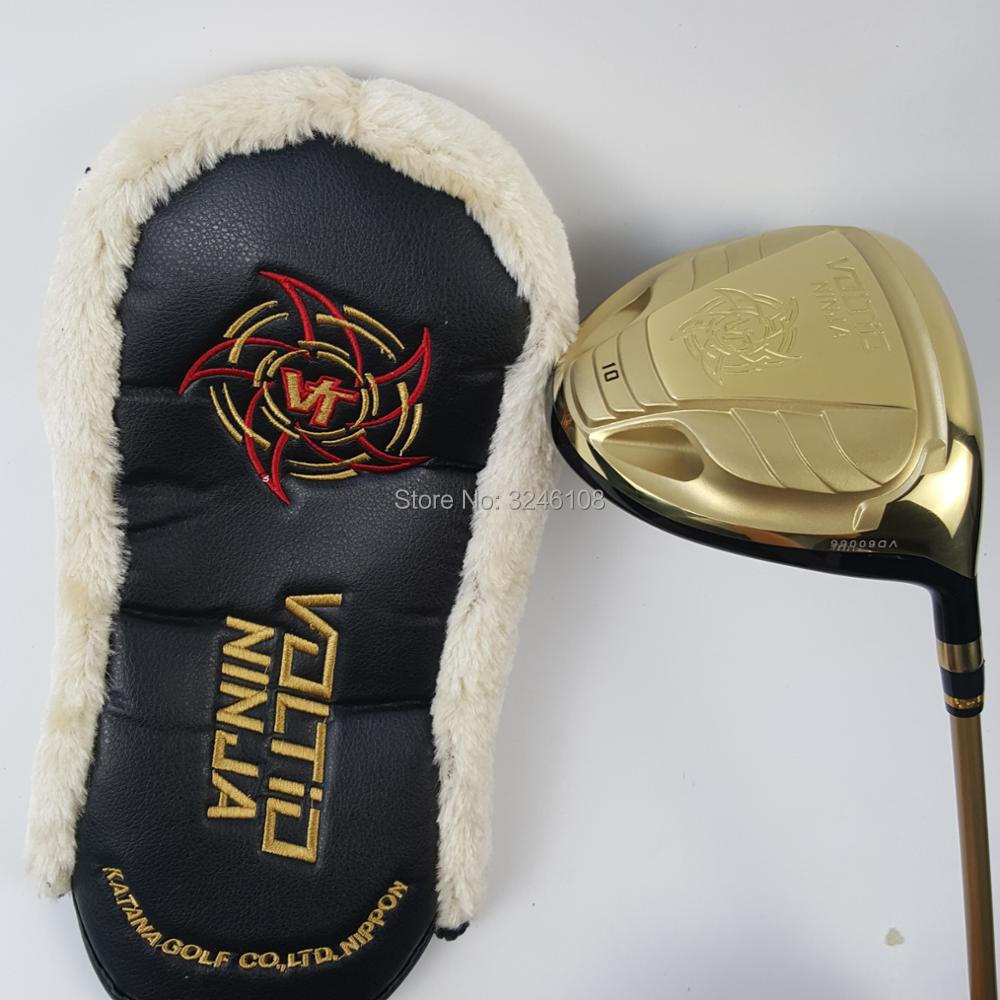 Conductor de Golf KATANA NINJA 880HI conductor de Golf club de Golf de oro o negro 9 o 10 loft eje de grafito R S flex conductor envío gratis