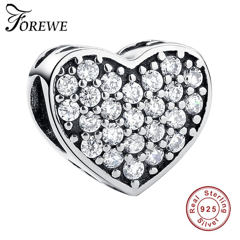 FOREWE, abalorios de Plata de Ley 925 para Forever Friends compatibles con pulseras Pandora originales, accesorios de joyería, regalo de amistad
