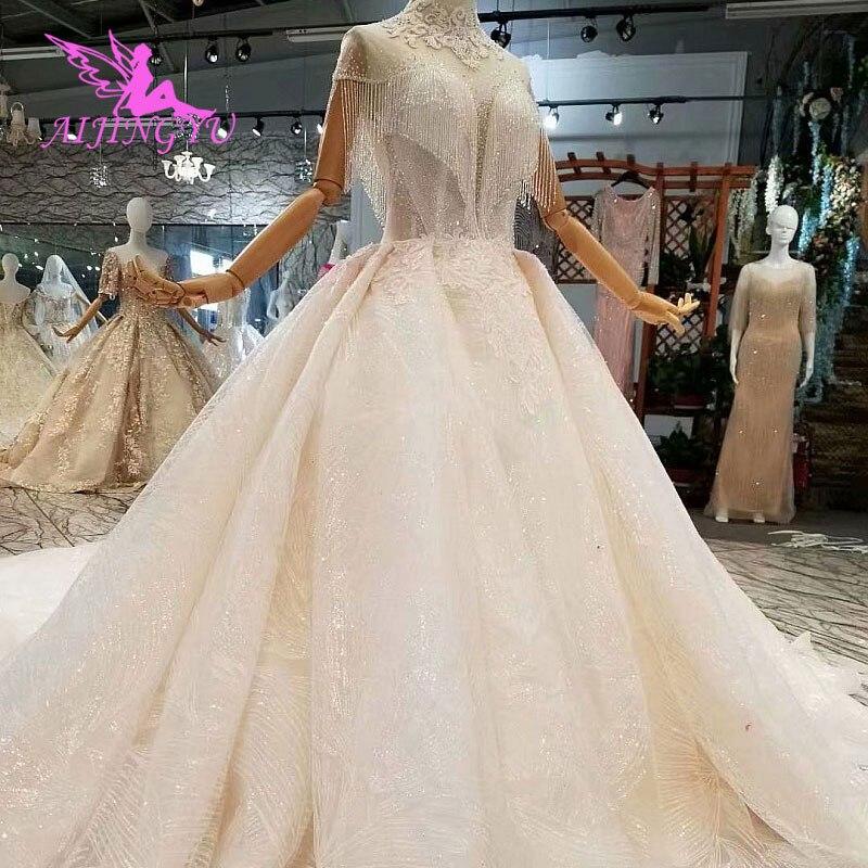AIJINGYU فستان طويل هندي الملابس الدانتيل بسيط على حجم كبير ملابس الورد ثوب مسلم فساتين حفلات الزفاف