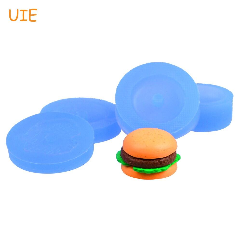 GYL152/153/154/155U un conjunto de 4 Uds. Moldes de silicona para hamburguesas 3D-arcilla polimérica, resinas, pasta de goma, moldes para Fondant