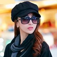 Beret Women 2017 Autumn Winter Casual Solid Female Beret Hats Men Wool Flat Cap High Quality The Painter Caps