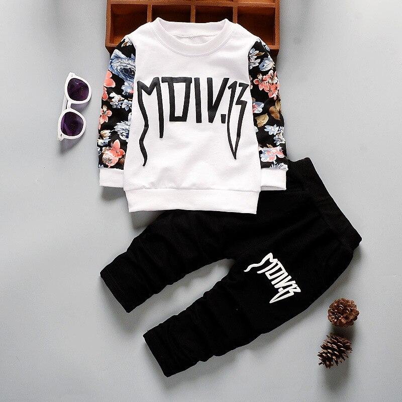 Nova primavera outono do bebê meninas t camisa calças 2 pçs da criança moda fatos de treino crianças menino meninas estilo boemia roupas do miúdo