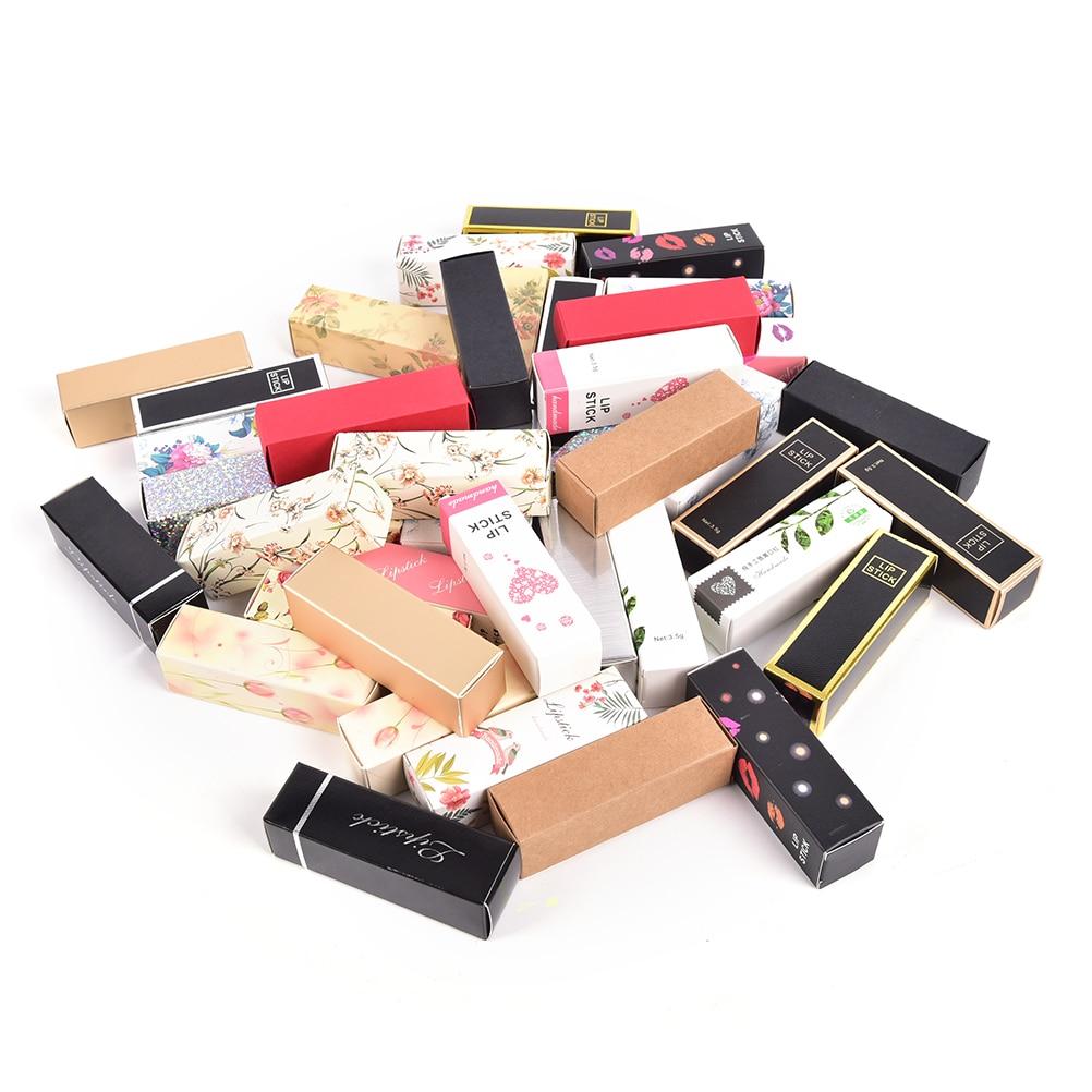 10pcs/lot 25*25*88mm 5G 5ml Lip Balm Tube Packaging Carton Box  Lipstick Tube DIY Packing box Colorful Kraft Paper Gift
