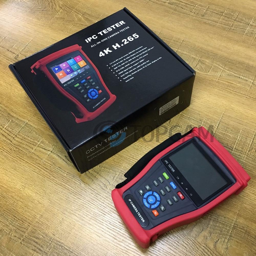 4,3 pulgadas Pantalla táctil IPS 960X540 1080P IP de 4K H.265 5MP TVI 4MP CVI AHD SDI EX-SDI IP CVBS Onvif cámara de prueba de Control PTZ