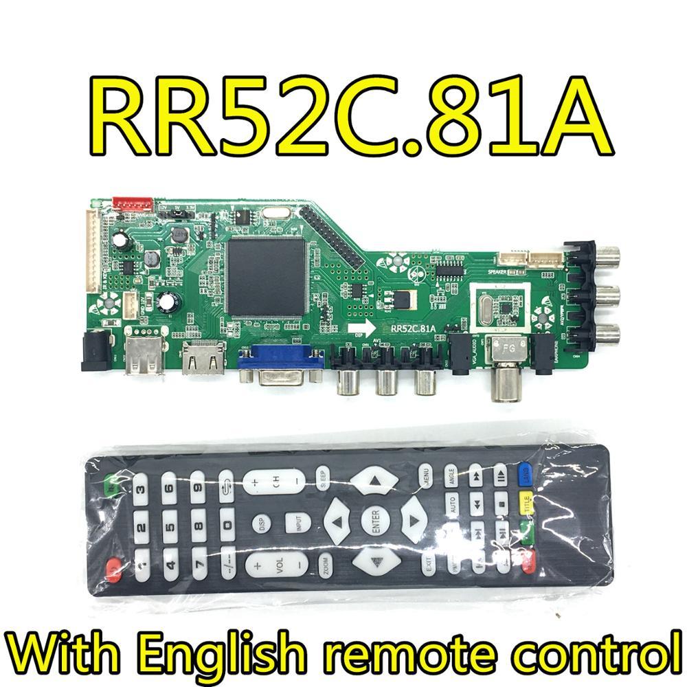 Rr52c.81a DVB-T2/dvb-t/DVB-C lcd led tv controlador driver placa de trabalho