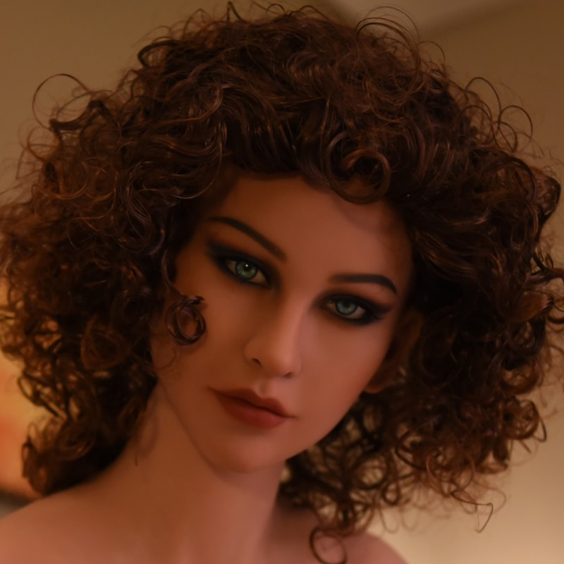WMDOLL210 #, cabeza de muñeca para sexo oral, muñeca sexual realista de silicona, cabeza de muñeca para cuerpo de 140-170cm, alta calidad