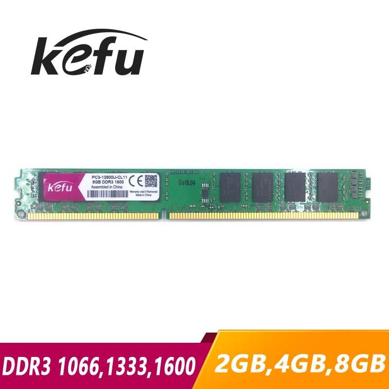 KEFU-Memoria RAM DDR3 para ordenador de escritorio, 2GB, 4GB, 8GB, 1066mhz, 1333mhz,...