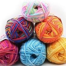 Fils en laine coton doux bébé 50g   Fils à Double tricot, Crochet bricolage, pull-over écharpe chapeau tricoté à la main, fil Muiticolor