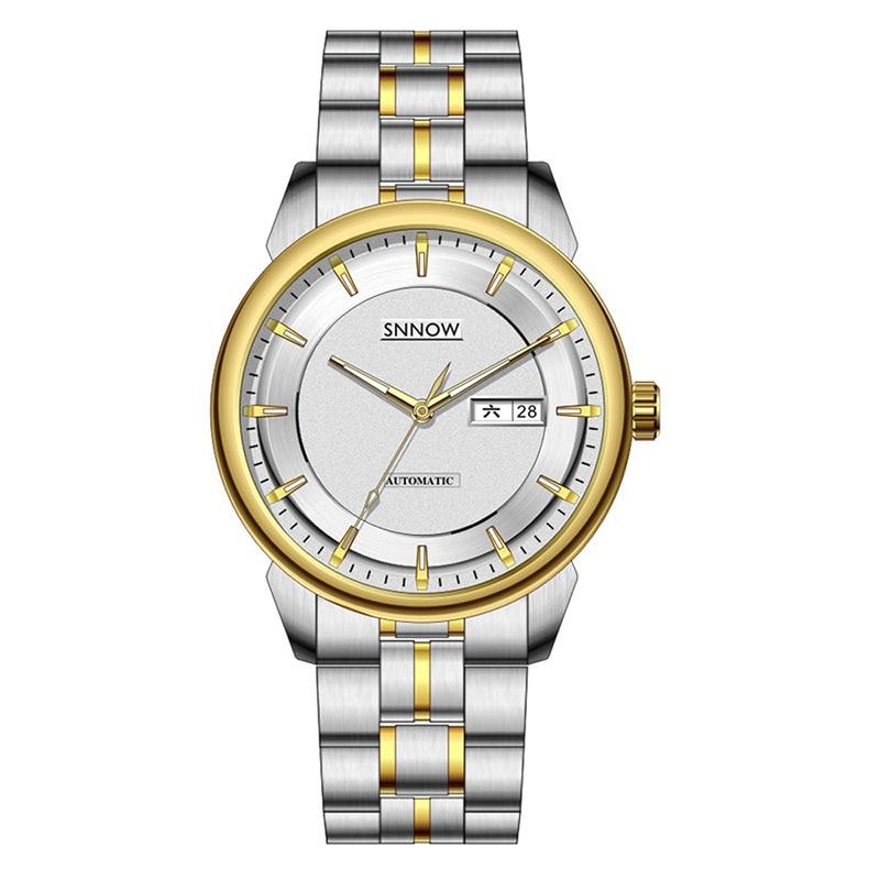 Men Luxury CASIMA Brand SNNOW Automatic Mechanical Watches Men Business Dress Classical Charm Men's Watch Waterproof Male Clock