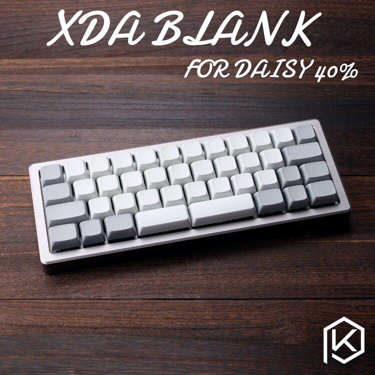 XDA en blanco teclas daisy 40% 40 teclas en blanco similares a las dietas para MX Teclado mecánico Ergo Filco Leopold corsario Noppoo Planck