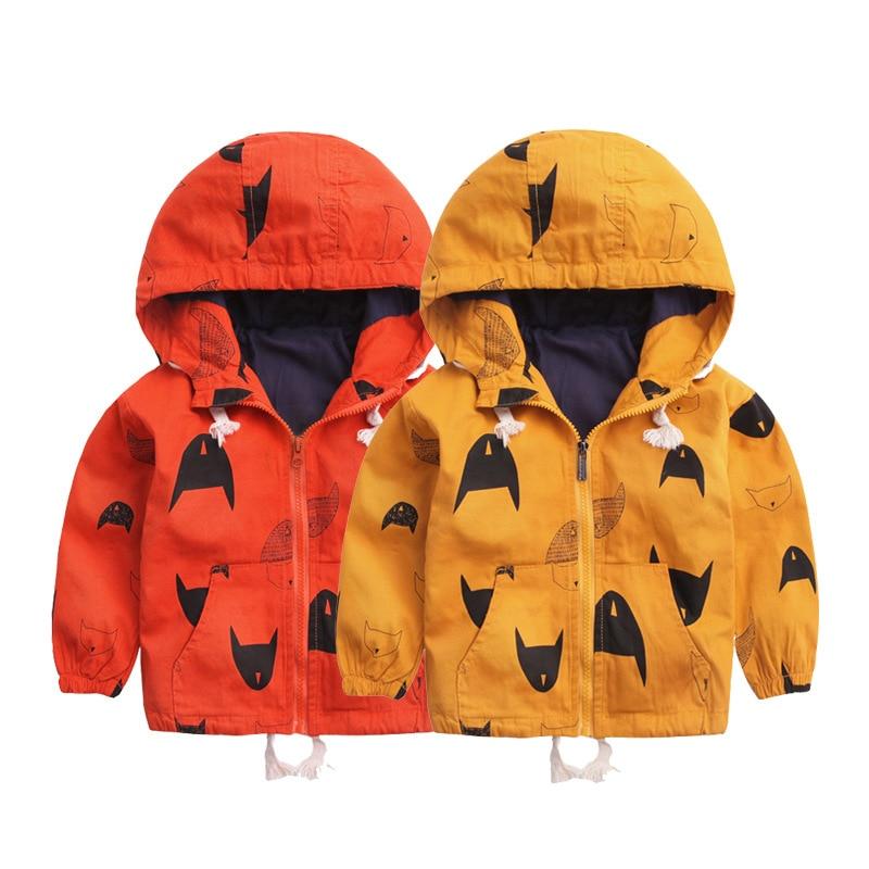 Autumn Winter Baby Boy Jacket Girls Coat Fashion Kids Cartoon Outerwear & Coats Boys Clothes Children Windbreaker Kid Jackets