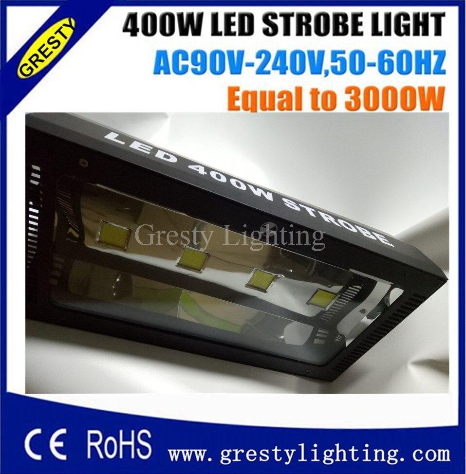 400W Led Strobe Light Streamlined Shape 4*100W White Led Die-cast Aluminum Overheat Protection 90V-240V