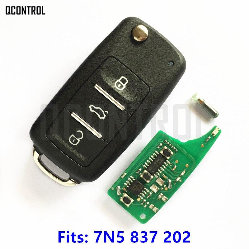 QCONTROL New Remote Key for SEAT 7N5 837 202 / 7N5837202 Alhambra/Altea/Ibiza/Leon/Mii/Toledo 2009-2016