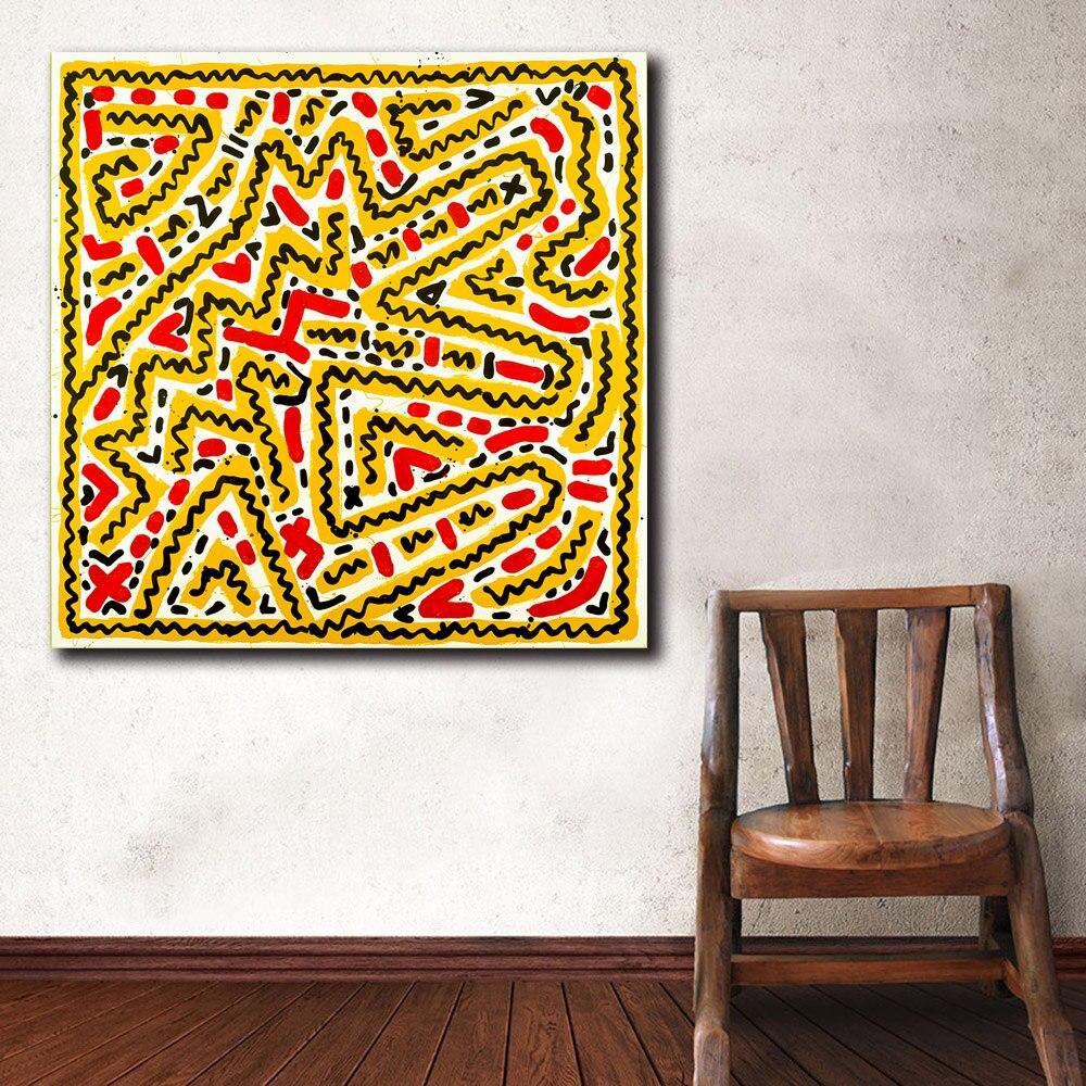 Cão Pintura A Óleo Pop Art Keith Haring Untitled Pintura Impressa Em Canvas Wall Art Imagem Home Decor Abstrato Impressão Pintura