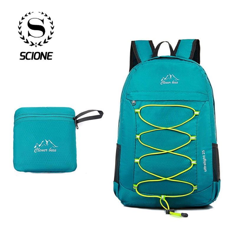 Scione Cruz Unisex mochila Plegable ligera impermeable Nylon viaje Bagpack gran capacidad moda Casual escuela deporte diario bolsa