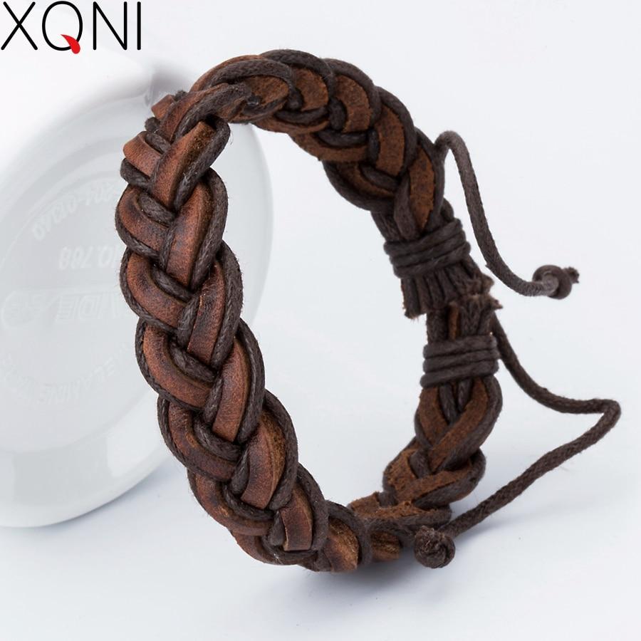 New 2017 Fashion Charm Leather Bracelets For Women Popular Alloy Bangle DIY Handmade Cross Bracelets For Birthday Party Gift
