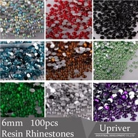 upriver 100pcs 6mm loose rinestone shiny all colors 3d non hotfix flatback nail art decorations flatback diy glue on dress