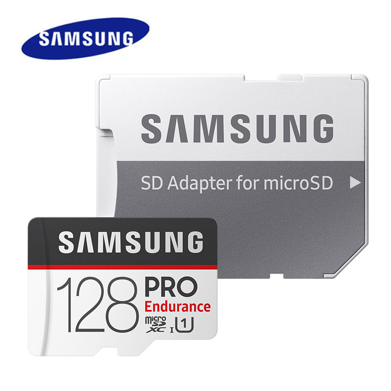 Samsung PRO Endurance microSD Card 128GB 64GB SDXC 32GB SDHC U1 Class10 TF Card For Video Surveillan Car DVR Smartphone