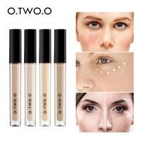 O.TWO.O 4pcs/set Liquid Concealer Full Coverage Eye Dark Circles Blemish New Dark Skin Face Contour Cosmetics