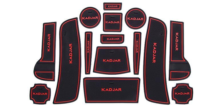Non-slip Interior cup mat anti slip door pad for renault kadjar 2015-2018, auto accessories