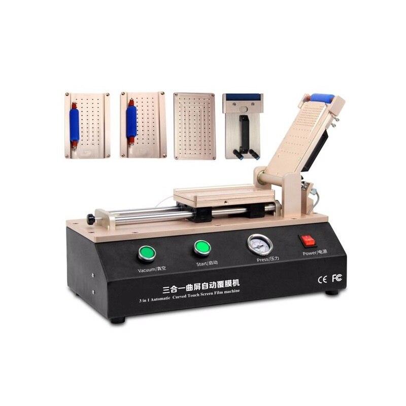 LY 973 V.3 TBK 7 pouces Semi-automatique plastifieuse de film OCA sous vide 220 V/110 V avec 5 moules universels S6 S6 + S7 S8/S8 + Edge
