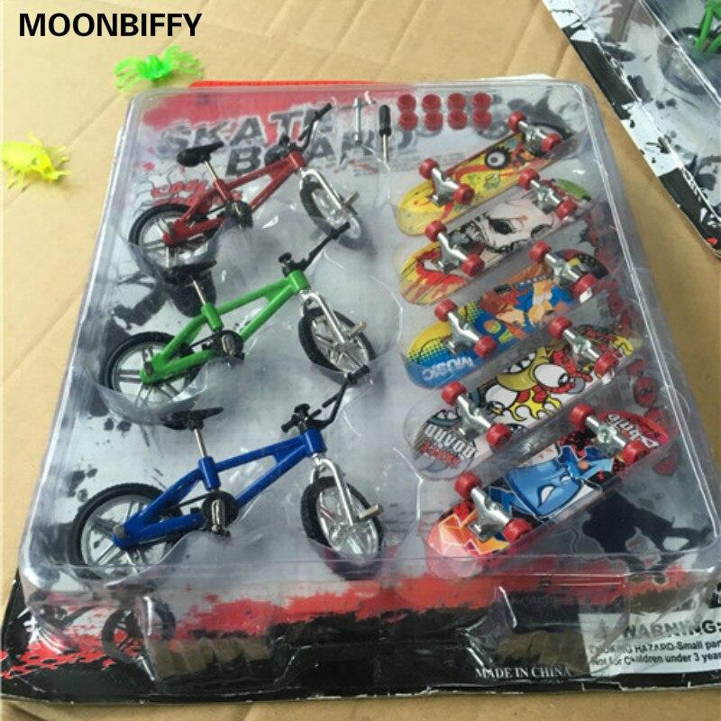 8 шт./компл. мини пальцевая доска скейтборд и bmx велосипед игрушка для детей Детские скейтборды скутер FSB забавная Новинка Велосипед подарок